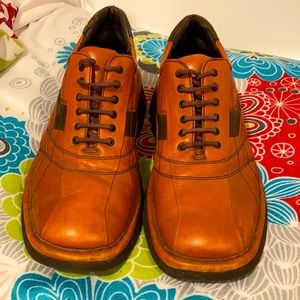 70's genuine leather shoes by BOOMERANG